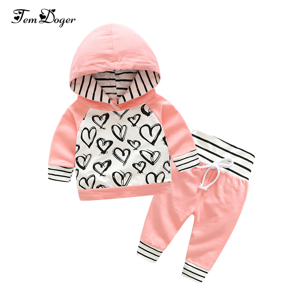 Tem Doge Baby Clothing Sets Spring Autumn New Newborn Baby Infant Girls Clothes Long Sleeve 2PCS Casual Hooded Baby Boy Clothing