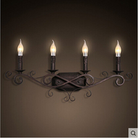 Candle Holders LED Wall Lamp Iron Bedside Modern Wall Light Fixtures For Bar Dining Home Lightings Luminaire Lamparas De Pared
