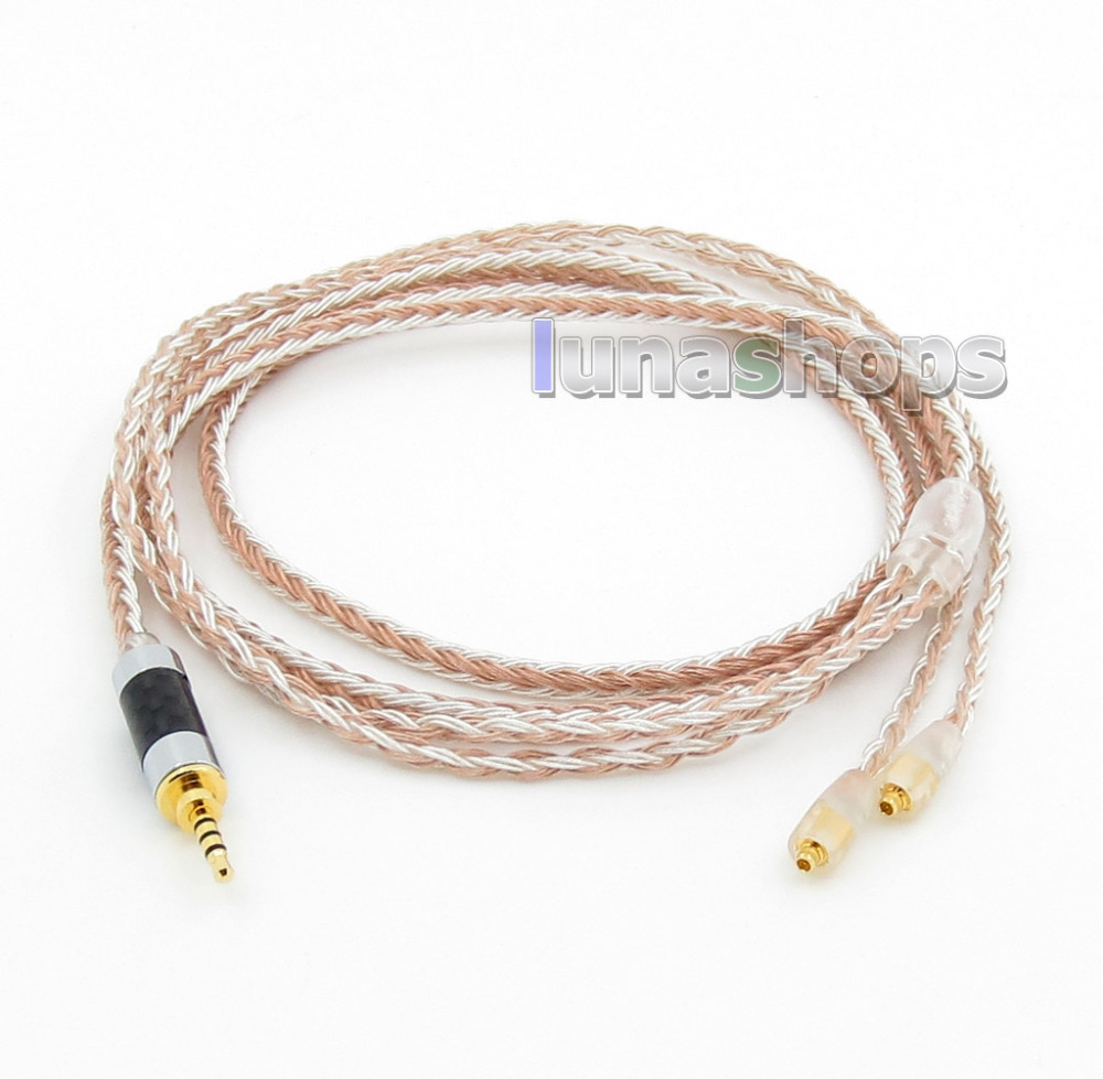 2.5mm 4pole TRRS Balanced 16 Core OCC Silver Mixed Headphone Cable For Westone W60 W50 W40 UM50 UM30 UM10 LN005795 new cvs250f 3p 200a lv525332 easypact moulded case circuit break er