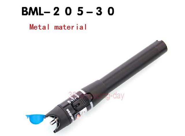 Oi-qualidade de Metal com Luz de Laser Vermelho Localizador Visual da Falha da Fibra Óptica Cable Tester Checker para 30 KM