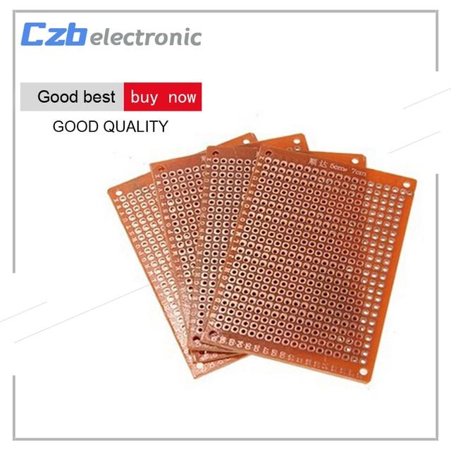 10 cái 5*7 cm Phổ Trống PCB Breadboard TỰ 50 mét X 70 mét Phototype Board Single Side Mạch điện tử Breadboards Tấm