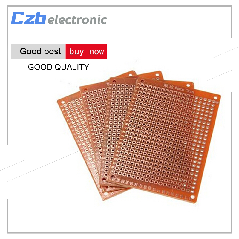 цена на 10pcs 5*7cm Universal Blank PCB Breadboard DIY 50mmX70mm Phototype Board Single Side Electronic Kit Circuit Breadboards Plate