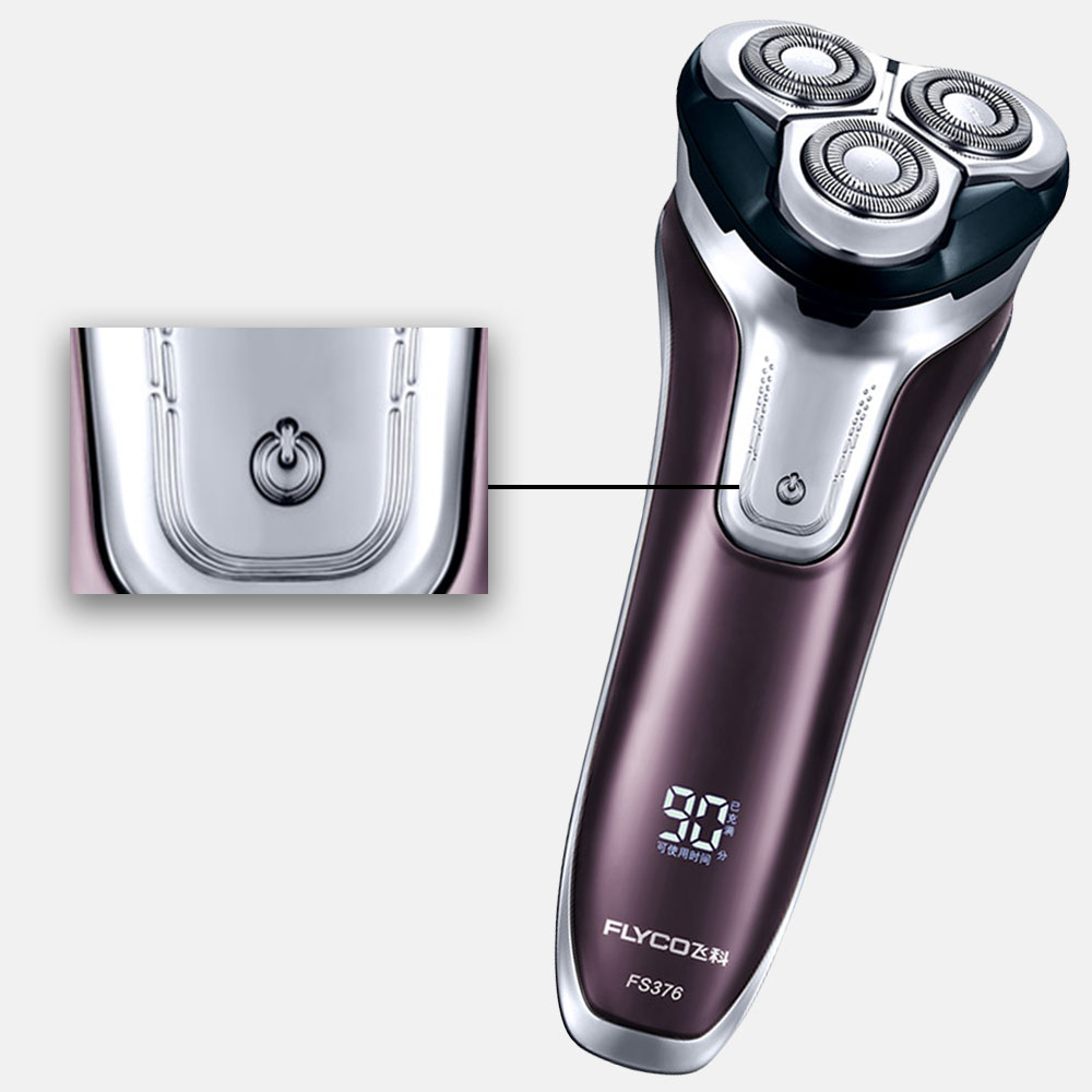 Flyco 3D Men Electric Shaver Razor for Head Shaving Rechargeable Aparador De Pelos Gemei Body ...