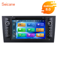 Seicane Android 8.0 8 core 7 2din 1024*600 touchscreen Car Stereo DVD GPS Nav for AUDI A6 S6 RS6 with Bluetooth Wifi 4GB RAM