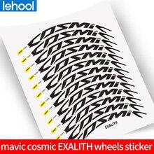 Racefiets Fiets Twee Wielen Set Velg Stickers Voor Mavic Cosmic Pro Carbon Exalith 40C 40/50 Mm Velg Decals Gratis verzending