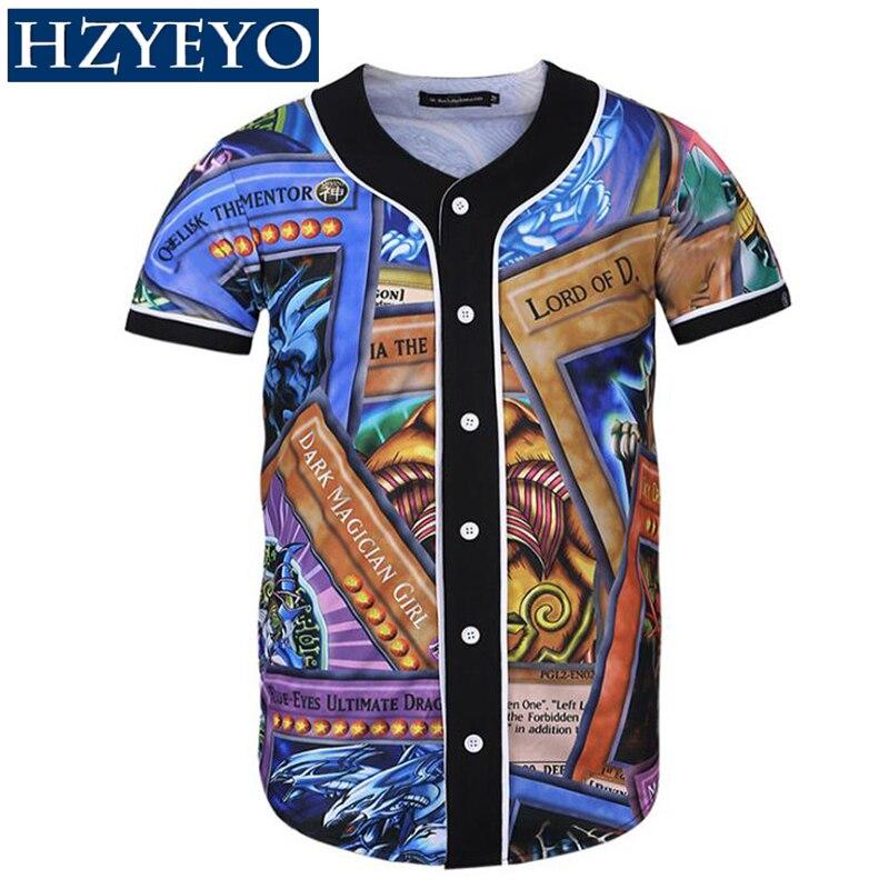 33d75510053 Detail Feedback Questions about HZYEYO Short Sleeve T shirt Men Baseball  Jersey Sport Slim Fit V Neck T shirts Streetwear European Mens
