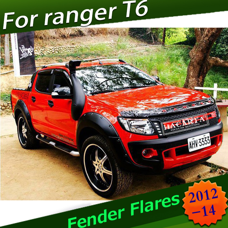"9/"" MATTE BLACK OFF-ROAD FENDER FLARES WHEEL ARCH FOR FORD RANGER PX T6 2012-2015"