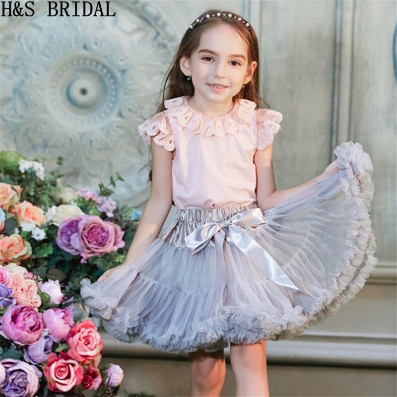 Flower     girl     dresses   Baby   Girls   Tutu Skirt Fluffy Children Ballet Kids Pettiskirt Baby   Girl   Skirts Princess Party Dance Skirts