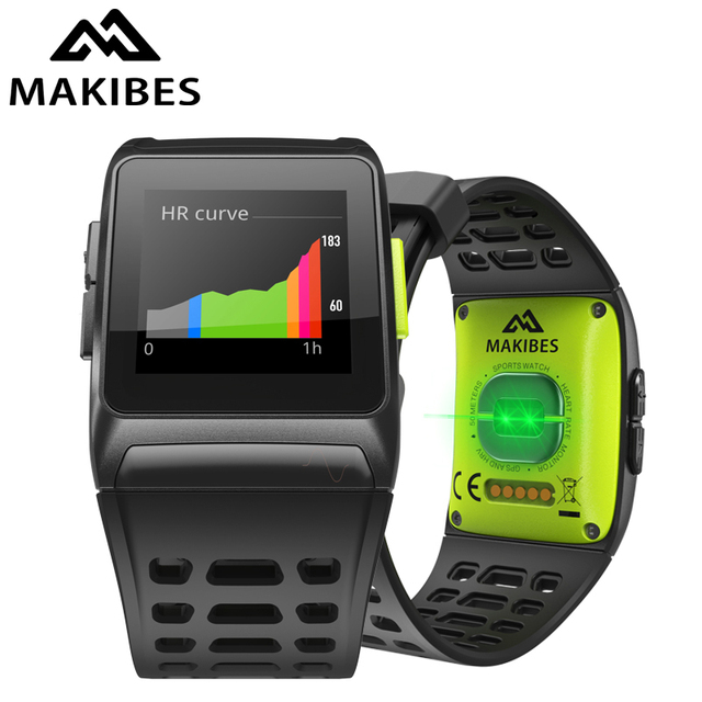 Makibes BR1 GPS Sports Wristwatch Strava Waterproof IPS color screen Dynamic Heart rate tracker Smart Watch For IOS Android