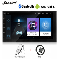 Jansite 7 Universal Android 8.1 2 DIN Car Radio car stereo Touch screen For ford fusion radio Bluetooth GPS Navigation NO Frame