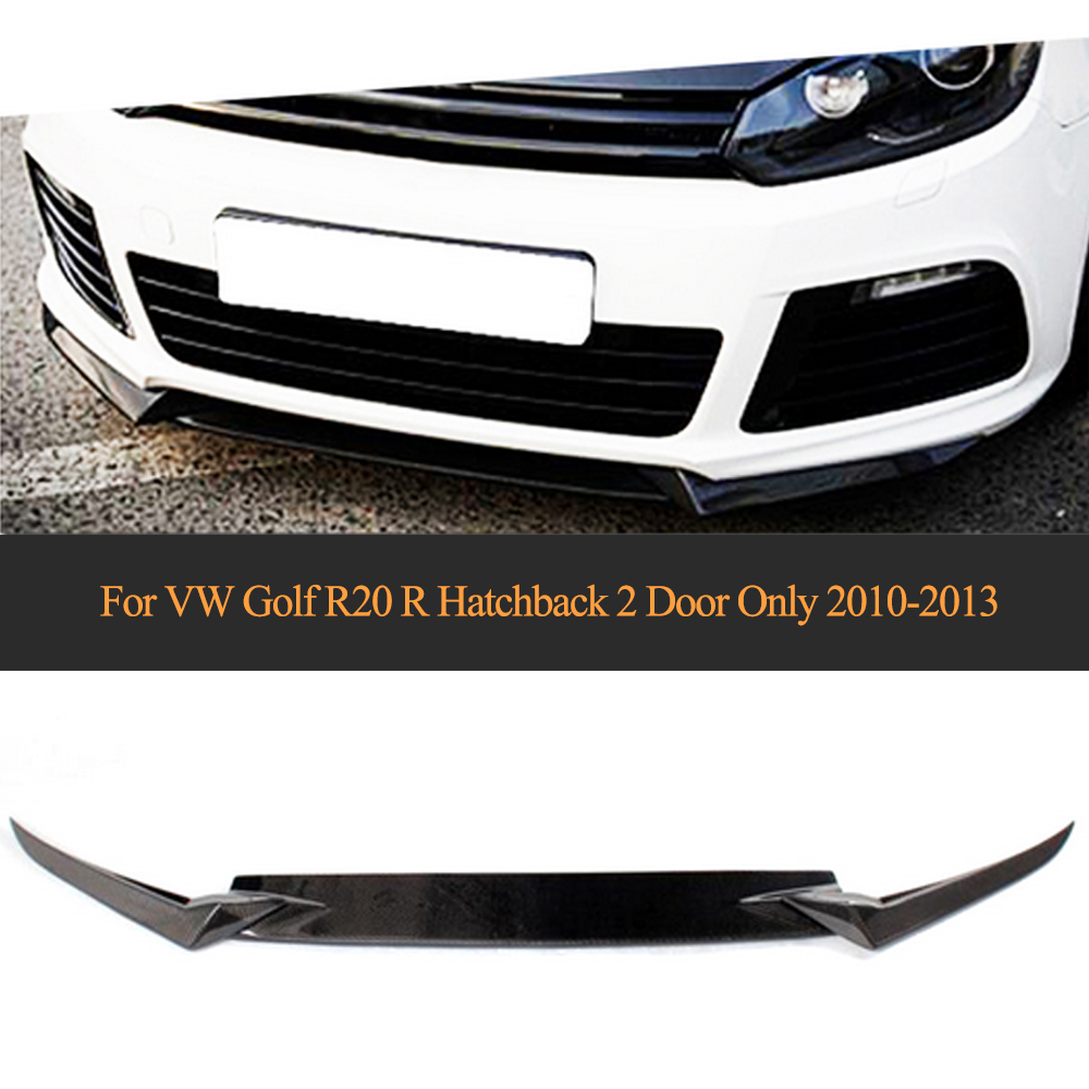 Carbon Fiber Car Racing Front Lip Splitters Apron For Volkswagen VW <font><b>Golf</b></font> R20 <font><b>R</b></font> Hatchback 2 Door Only 2010 <font><b>2011</b></font> 2012 2013 image