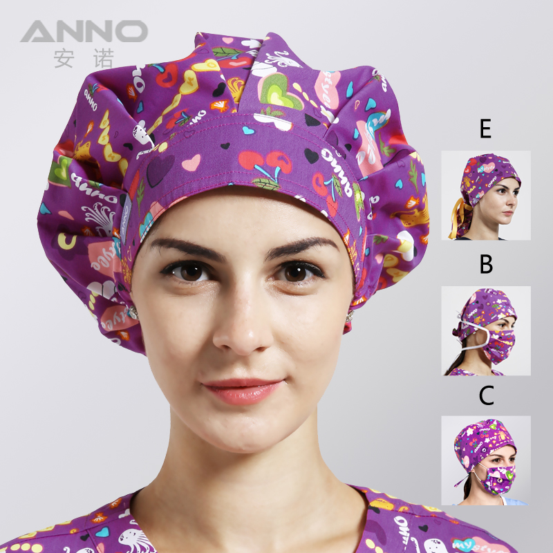Anno Disposable Purple Hospital Hat Surgical Caps Medical