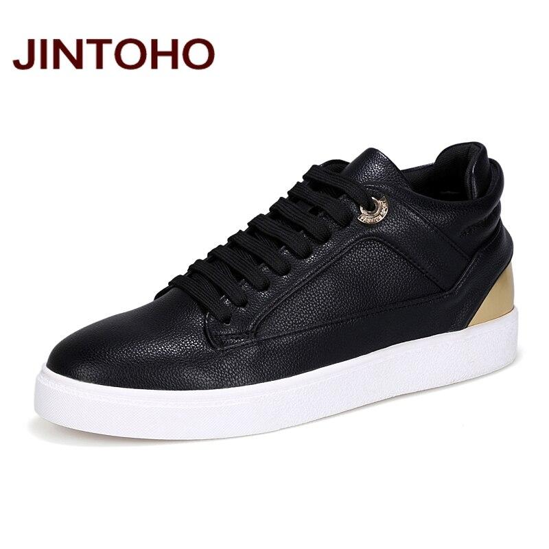 Prix pour Jintoho 2016 hommes planche à roulettes chaussures sport toile formateurs planche à roulettes chaussures sneakers low top planche à roulettes chaussures dentelle-up