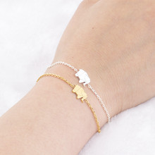 Pulseras Mujer Moda Stainless Steel Silver Gold Ketting Origami Elephant Bracelets For Women Bileklik Friendship Gift