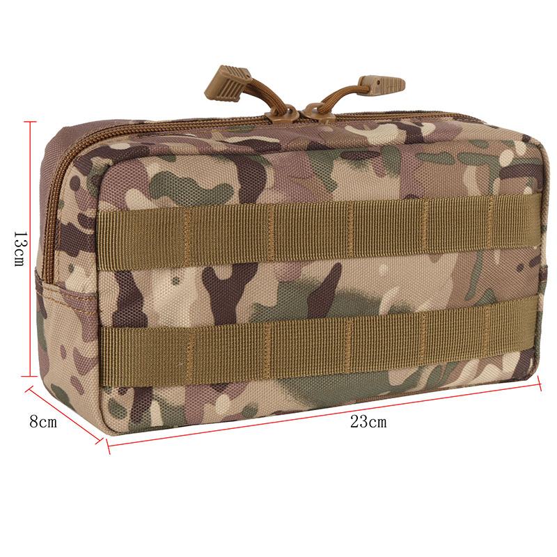 600D Nylon Outdoor Traveling Gear Molle Pouch Military Tool Drop Bag Tactical Airsoft Vest Camera Magazine Storage Bag