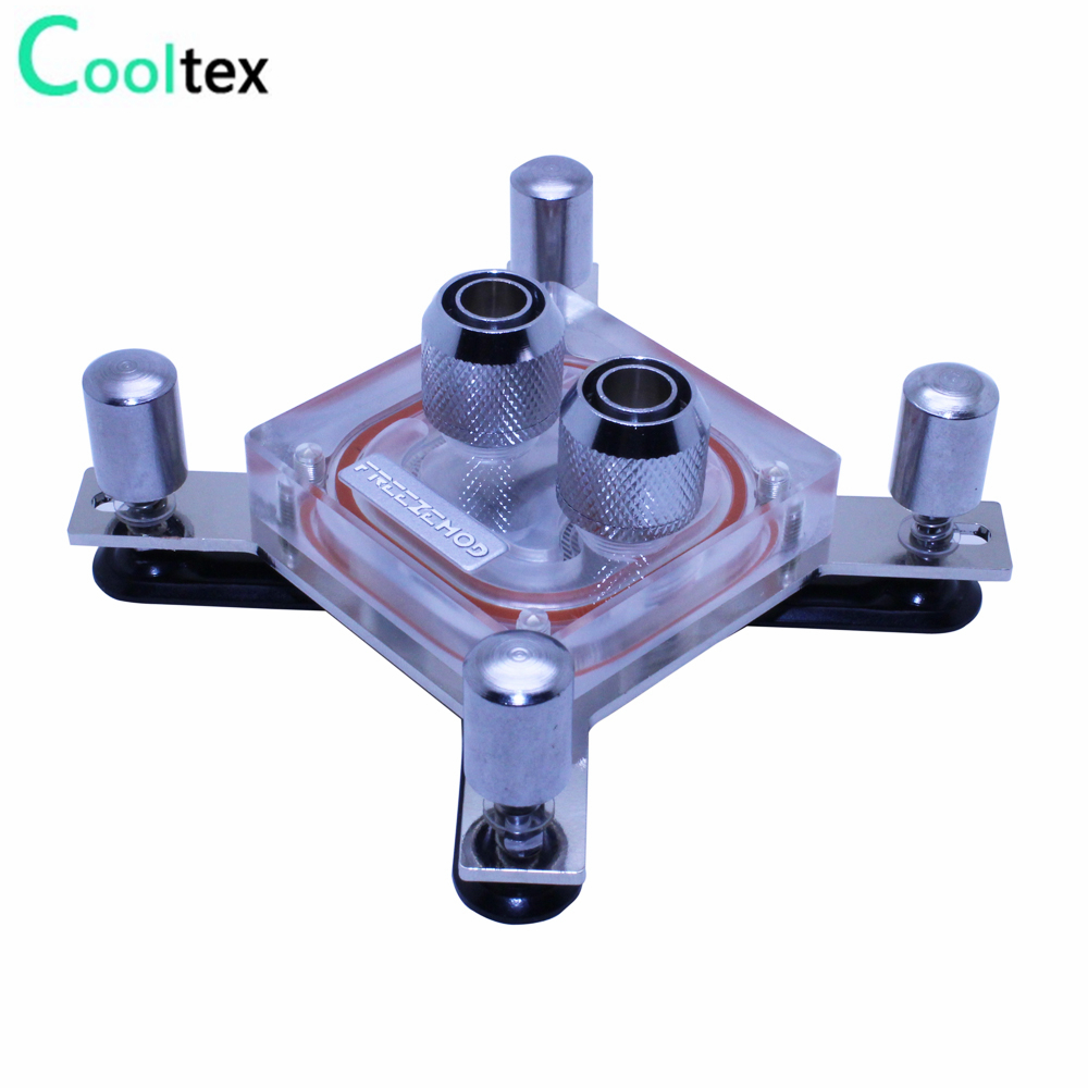 2017 new Water cooling Waterblock water block CPU radiator cooler for computer CPU intel LGA 775/115x/1366/2011 X99 X79 2200rpm cpu quiet fan cooler cooling heatsink for intel lga775 1155 amd am2 3 l059 new hot