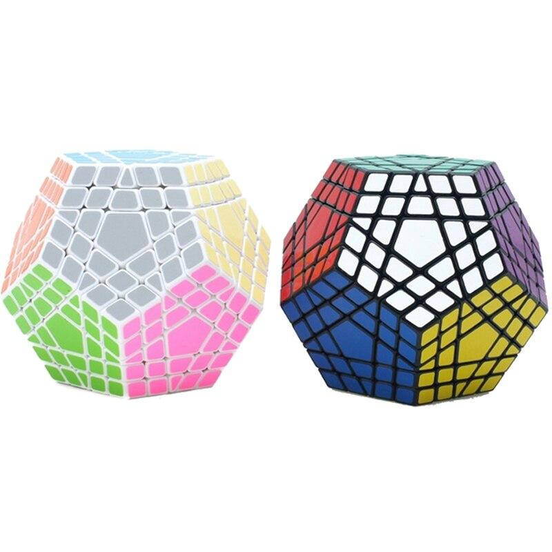 Профессиональный конкурс Gigaminx Магическая Скорость Куб Головоломка 5 слоев 12 Сторон Головоломка Куб обучающий игрушки для детей