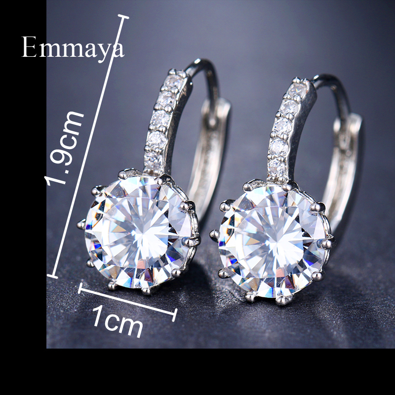 EMMAYA Fashion 10 Colors AAA CZ Element Stud Earrings For Women Wholesale Chea Factory Price 10