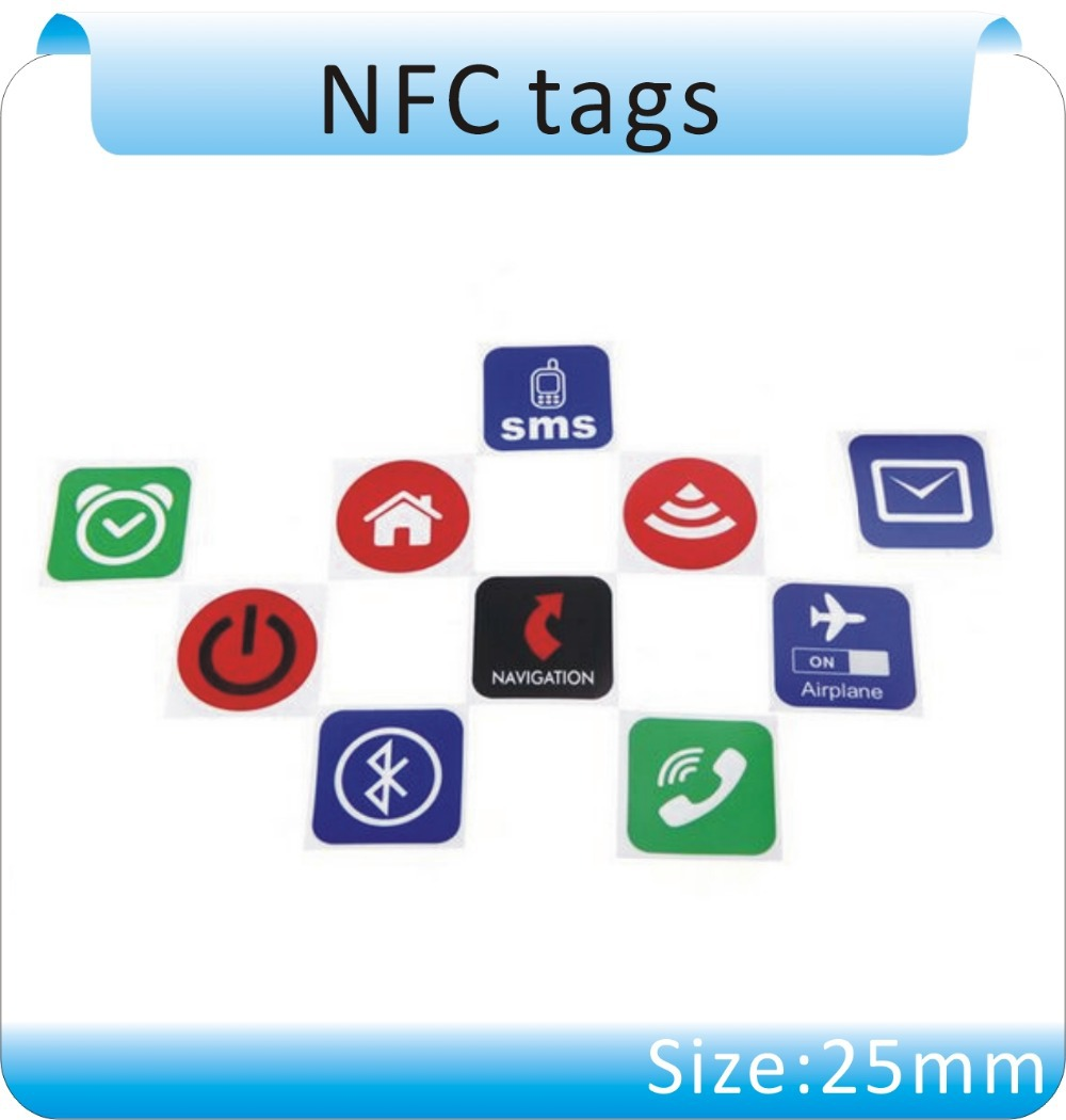 Free Shipping 10pcs Universal Smart NFC Tag NTAG203 NFC Sticker For For Samsung Nokia Sony All Others Nfc Android Phone