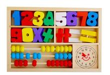 Free delivery children wooden mathematics teaching AIDS initiation toy,  digital learning block box one piece