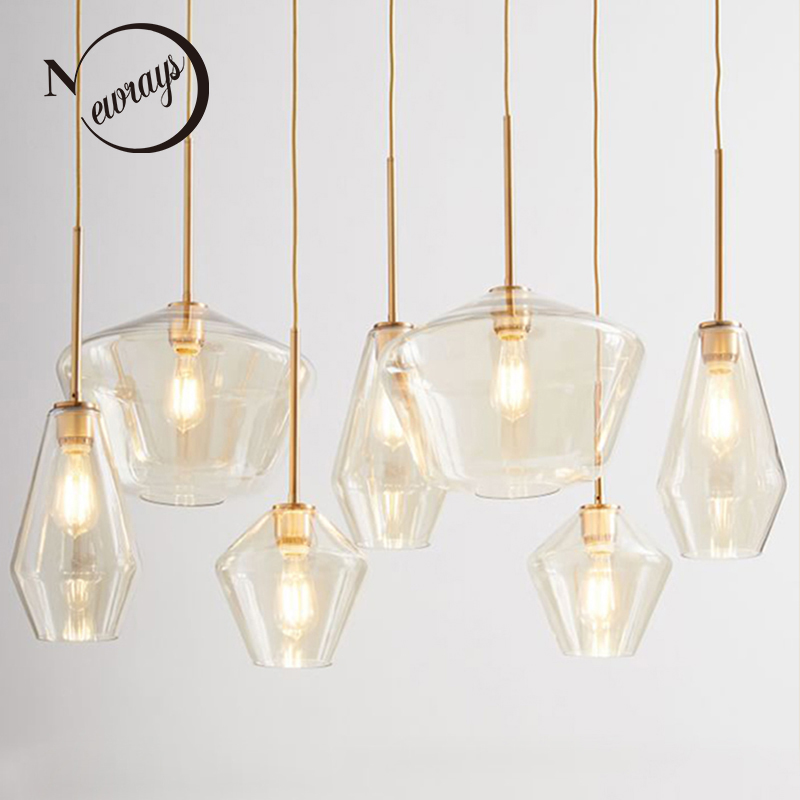 Nordic modern minimalist glass single head pendant lights for living room dining bedroom bedside study aisle restaurant cafe bar lightball three take the glass pendant lights corridor creative bedroom dining living room single head droplight cafe lamp