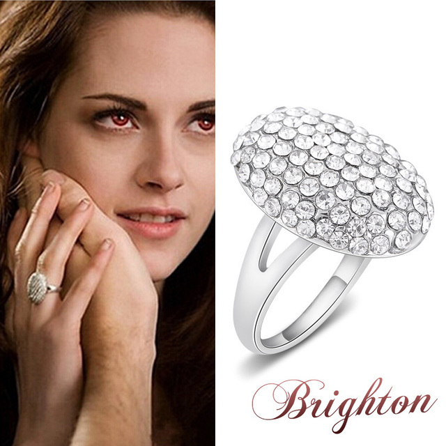 Superb The Twilight Saga Breaking Dawn Ring Bella Wedding Crystal Jewelry Isabella  Swan Twilight Bella Engagement Ring