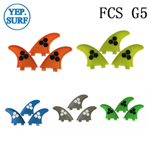 Image 1 - Surf Fins FCS G5 Fin Honeycomb Surfboard Fin 5 color surfing fin Quilhas thruster surf accessories
