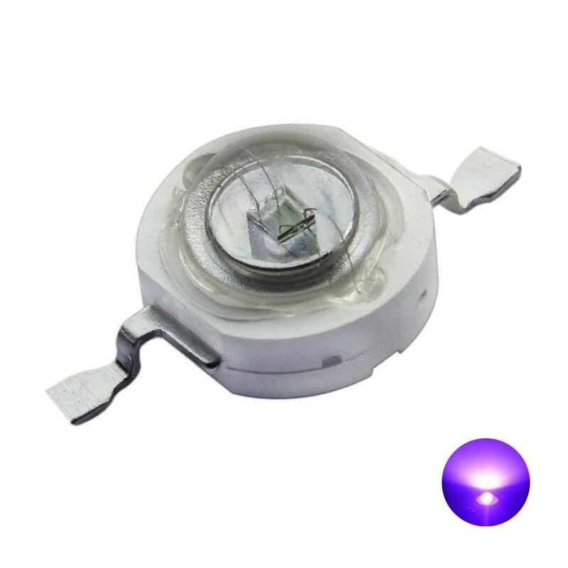 3000pcs 3W UV High Power LED Light Beads Ultra Violet Purple LED Chip395nm-400nm