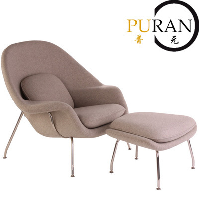 Eero Saarinen Womb ChairModern Design Chaise Lounge Chair Living Room Leisure SofaHome Furniturewith Ottoman