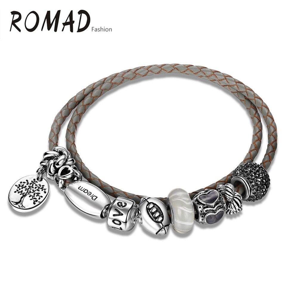 Romantic DIY Rhinestone Wrapped Charm Bracelet pictures