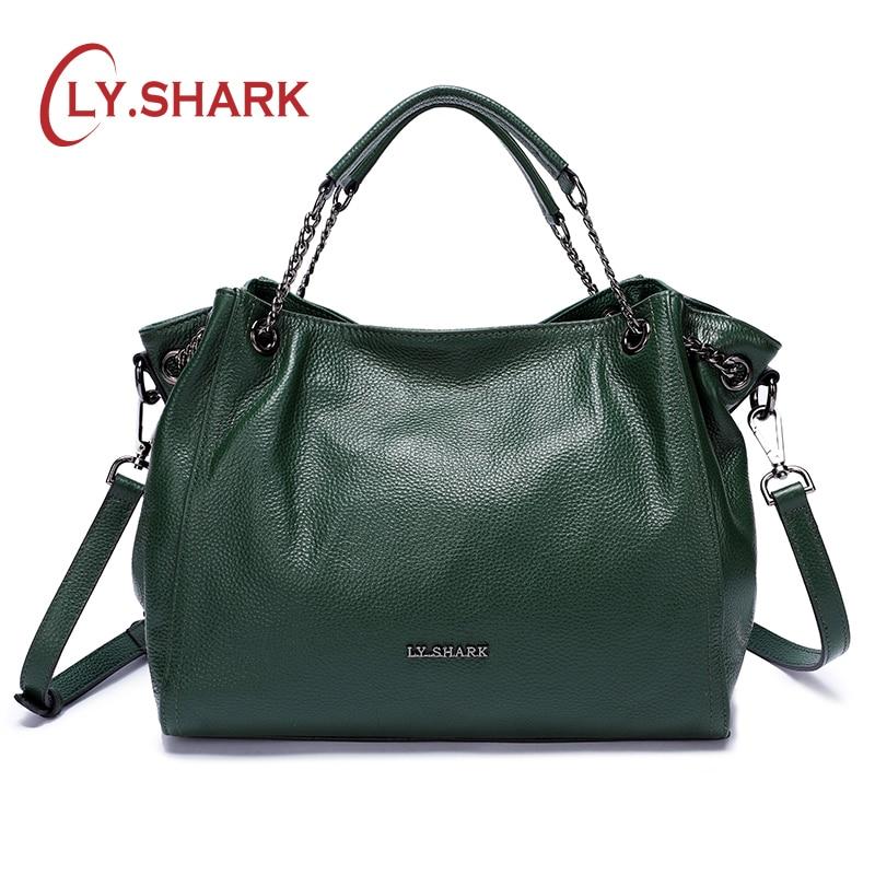 LY. SHARK Messenger Tasche Frauen schulter Taschen Für Frauen 2018 Luxus Handtaschen Frauen Taschen Designer Weibliche Tasche Damen Aus Echtem Leder