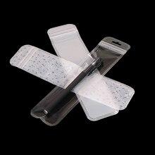 Прозрачный пакет для ручек, 50 шт., с отверстием для подвешивания, Пластиковые Многоразовые Пакеты, подарочные пакеты для ручек, упаковка для ...