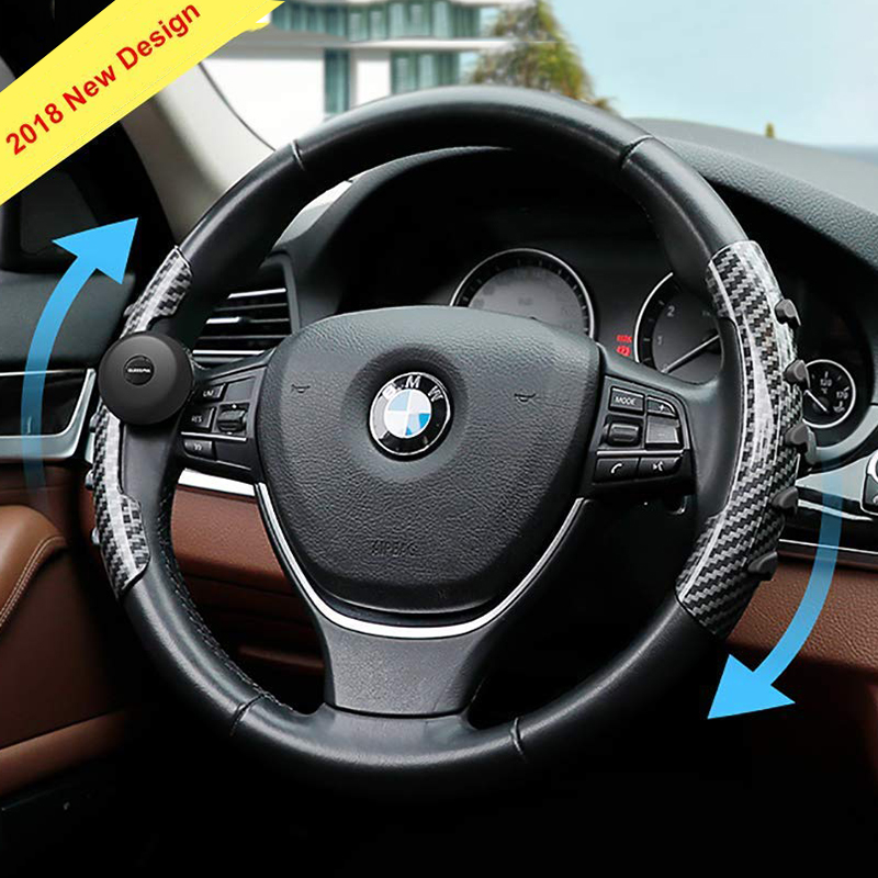 Steering Wheel Cover with Spinner Knob Ball Silica Gel Steering Wheel Suicide Spinner Booster Universal Car Steering Wheel Cover купити накладки спиннер на руль