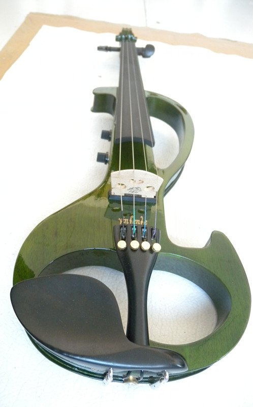 Big Jack New 4/4 Electric Violin Sound Solid wood green