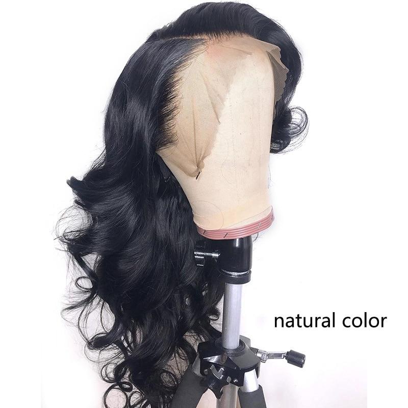 1B/27 Кружевные передние человеческие волосы парики с детскими волосами волнистые предварительно сорванные Омбре цвет бразильские волосы remy парики для женщин отбеливатель узлы - Цвет волос: Естественный цвет