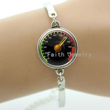 Car Speedometer art picture bracelet fashion vintage glass cabochon dome geek mens jewelry handmade gifts for men T604