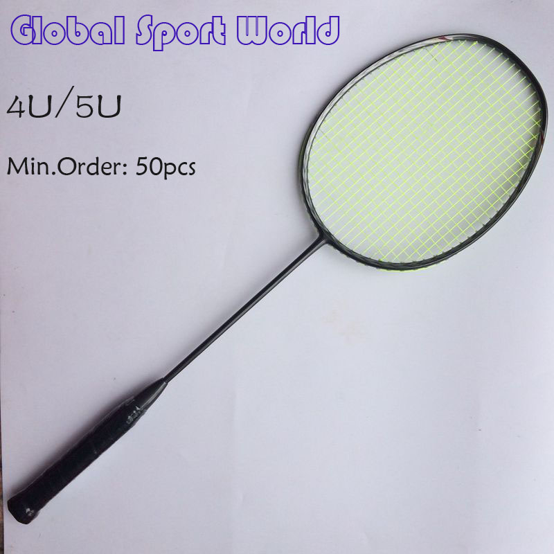 Wholesales 50 pcs Free shipping OEM ULTRA LIGHT 4U/5U 3D Blade N80 Frame badminton racquet racket