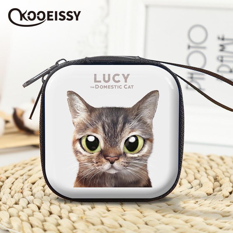 Органайзер проводов для наушников с милым котом, коробка для хранения кабелей передачи данных, чехол конфет для монет, защитный чехол для на...