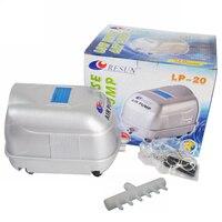 17W 22L Min RESUN LP 20 Low Noise Pond Air Pump For Koi Fish Septic Tank