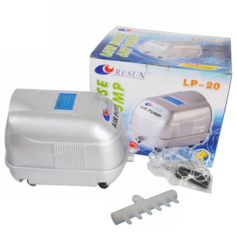 17 Вт 22l/мин Resun LP-20 низкая Шум Пруд воздушный насос для Koi Рыбы септик гидропоники кислорода воздуха аэратор аквариум воздушный компрессор