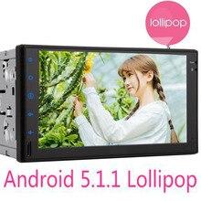 3G/4G Android 5.1 Reproductor Multimedia de Coche Tablet PC Del Coche Doble 2 din GPS Del Coche de Navegación gps Bluetooth Stereo Radio SIN DVD jugador
