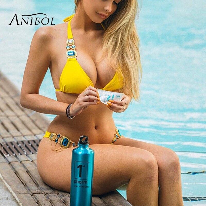 Anibol Sexy Bikini  Luxury Rhinestone Women Swimsuit Crystal