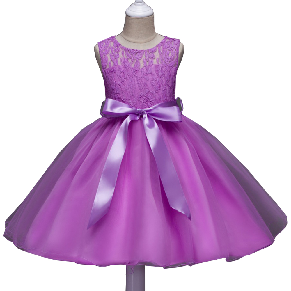 Summer Flower Lace Kids Party Dresses For Weddings Children's Princess Girl Evening Prom Toddler Girl Clothes for 4 6 8 10 12 Y 2017 new summer girl beading dress sequin flower ruched kids party dresses weddings princess girl evening prom girl clothes
