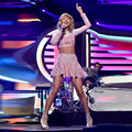 2014 Taylor Dress 1989 Album Iheartradio Music Festival Performance Dress Pink Crystal Short Mini Prom Gowns Party Evening Dress