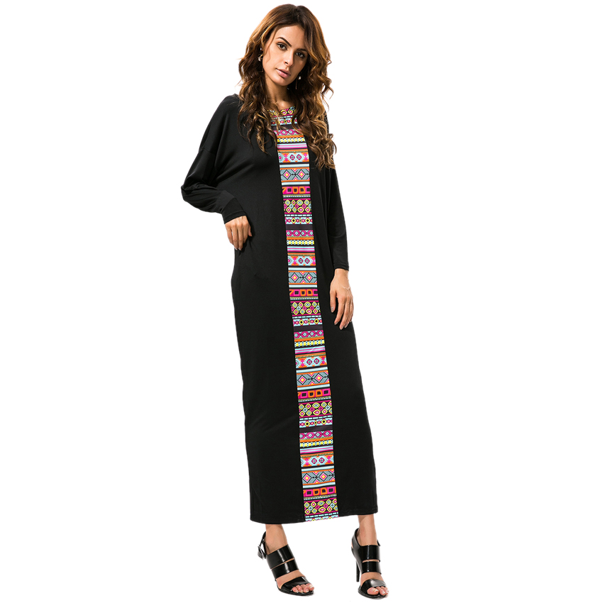 Fashion Women Black Pencil Long Dresses New Casual Autumn Winter Full Sleeve Maxi Dress Vestidos de festa O-neck Pockets CS0818