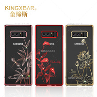 Original Kingxbar For Samsung Galaxy Note 8 Top Quality Electroplated Hard PC With Crystals From Swarovski