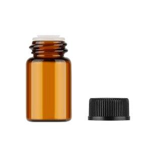 Image 5 - Aihogard 10 pz/lotto 1 ml/2 ml/3 ml Mini Ambra di Olio Essenziale di Vetro Reagenti Riutilizzabile Bottiglia Campione marrone Fiale di Vetro Con Tappo