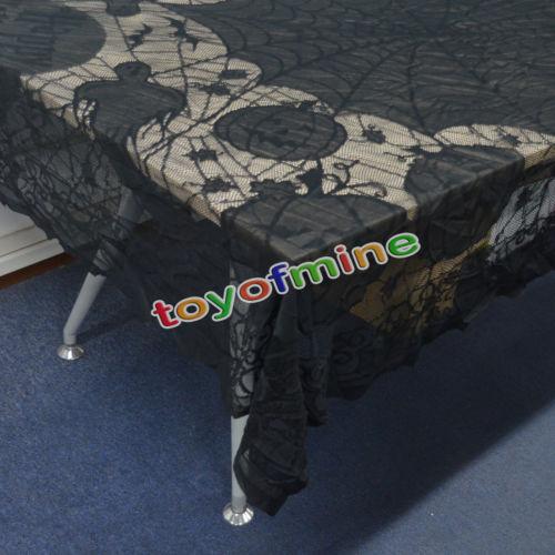 Large Size Of Kitchen Table Decorations Skull Pattern Tablecloth Orange Bat Spider Web