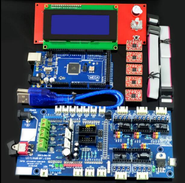 Pièces d'imprimante 3D DuoWeiSi pour rampe 1.57 carte de contrôle + LCD 2004 carte Mega 2560 R3 A4988 Kit de pilote pour imprimante 3D