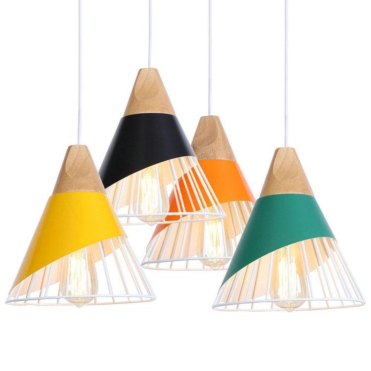 Nordic Light LED Pendant Lights Modern Iron Hanging Lamp Fashion Wood Hanglamp Dining Luminaire Suspension Lighting Fixture|Pendant Lights| |  - title=